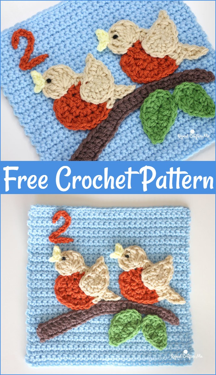 2 Birds Free Crochet Quiet