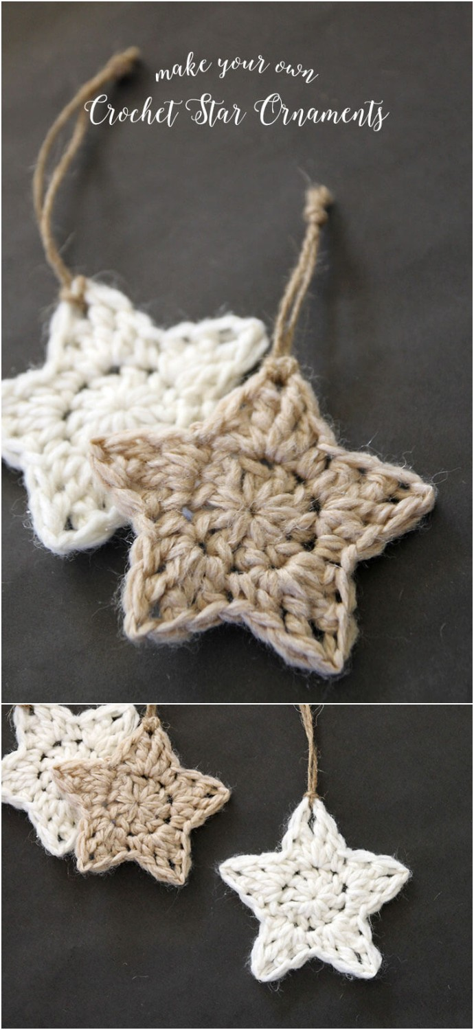 Crochet Stars Free Ornament Pattern