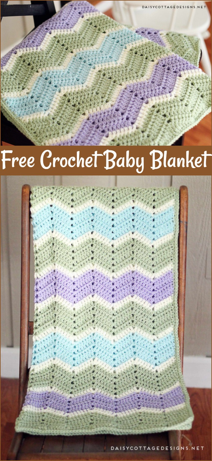 Easy Chevron Baby Blanket Crochet Pattern