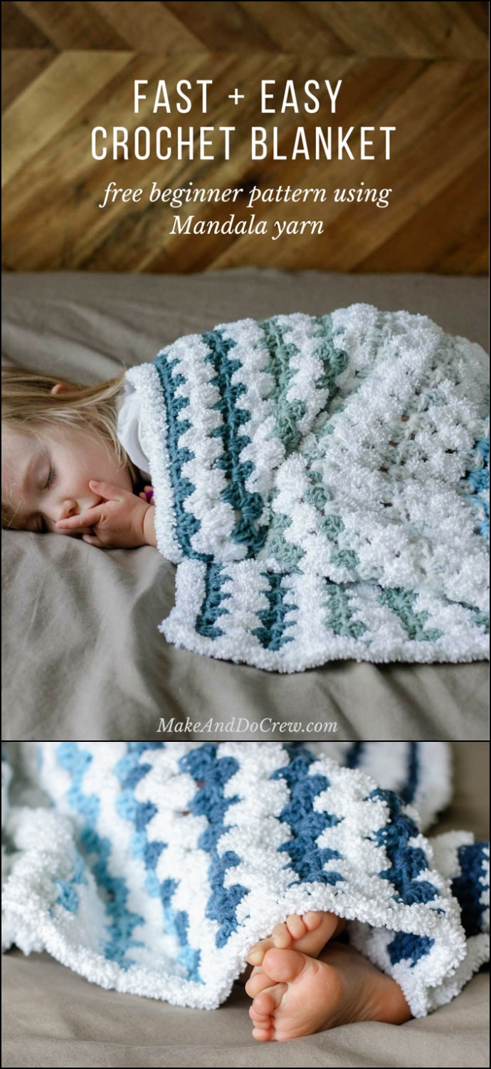 Free Beginner Crochet Baby Blanket Pattern