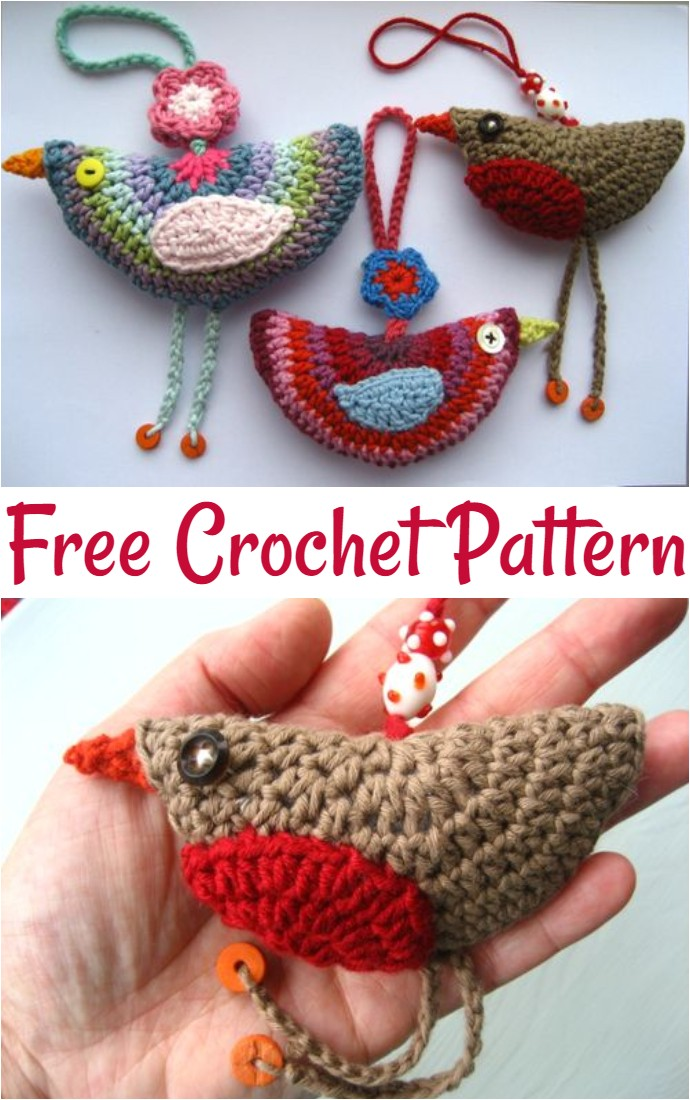 Free Crochet Birdie Decoration