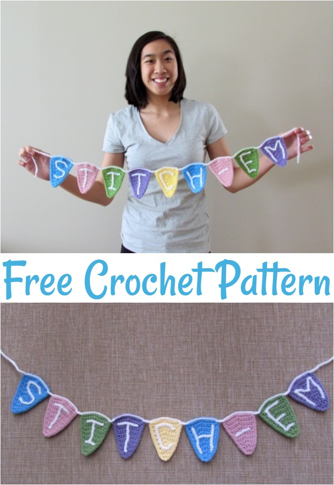 Free Crochet Bunting Flags