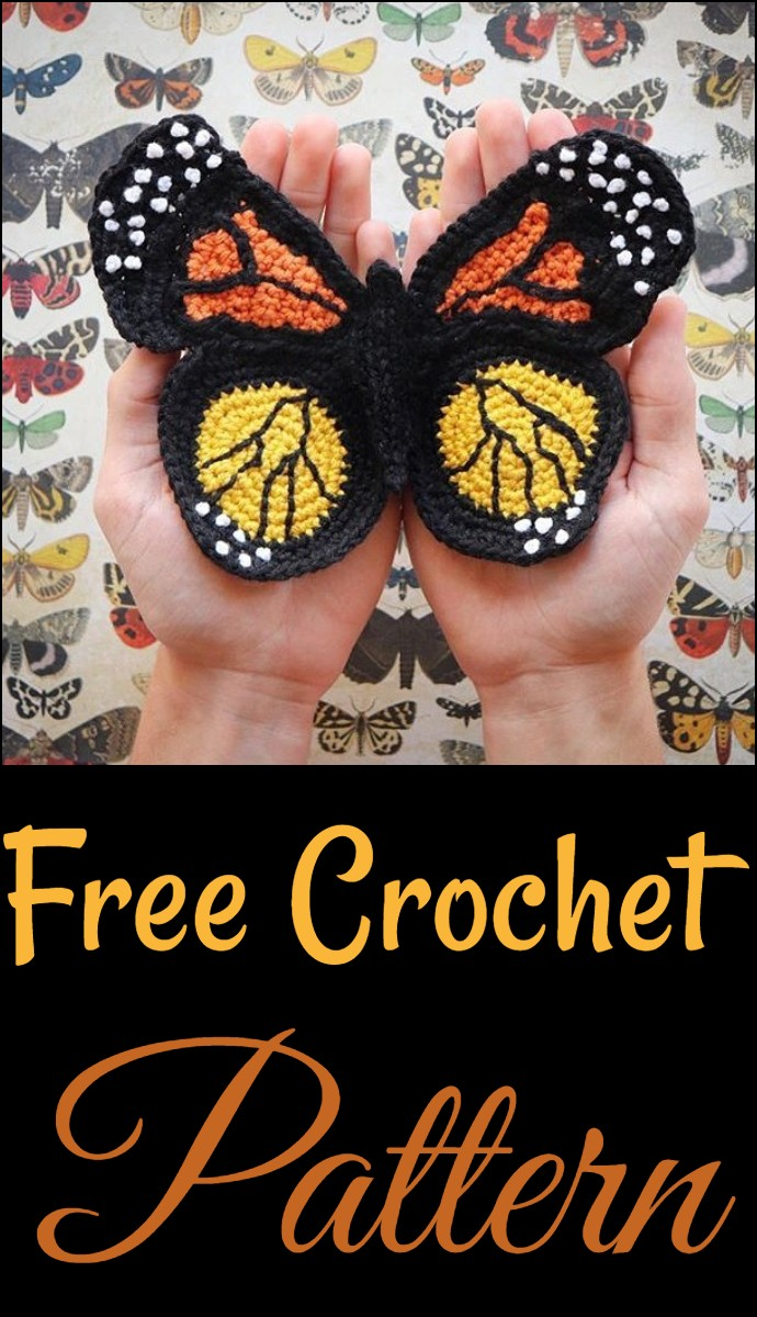 Free Crochet Butterfly For Granny Square New Skills