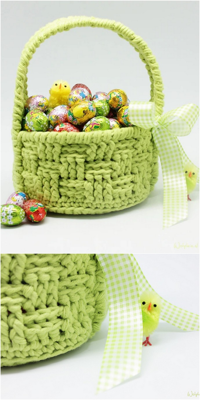 Free Crochet Easter Basket