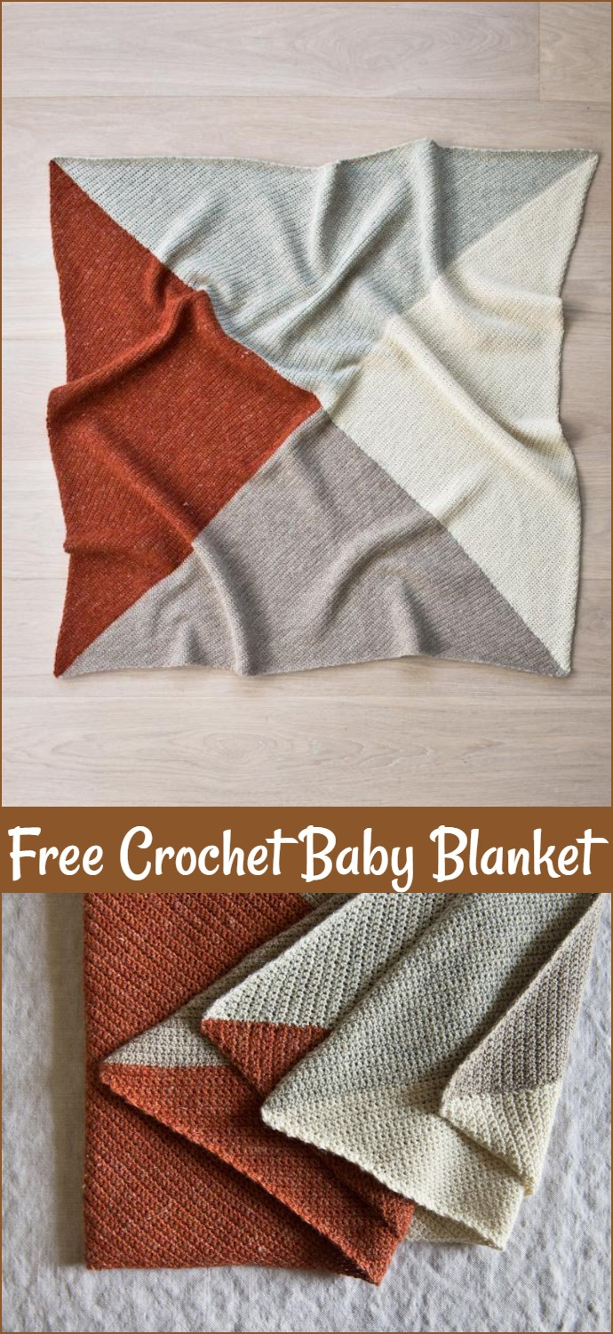 Free Crochet Four Points Baby Blanket