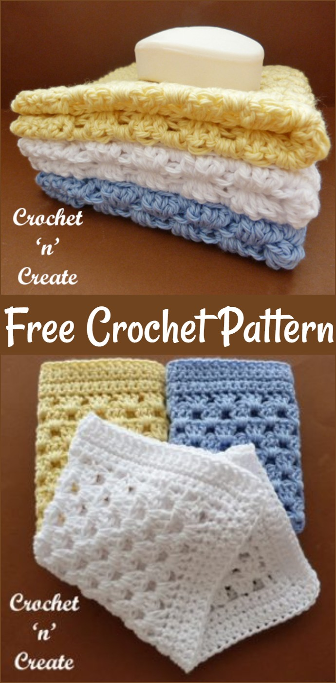 Free Crochet Granny Washcloth