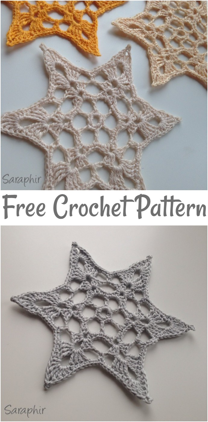 Free Crochet Lace Star