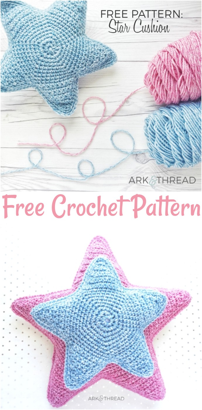Free Crochet Pattern Star Cushion