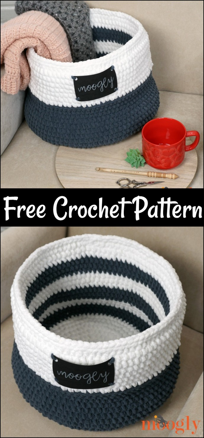 Free Crochet Simple Home Basket