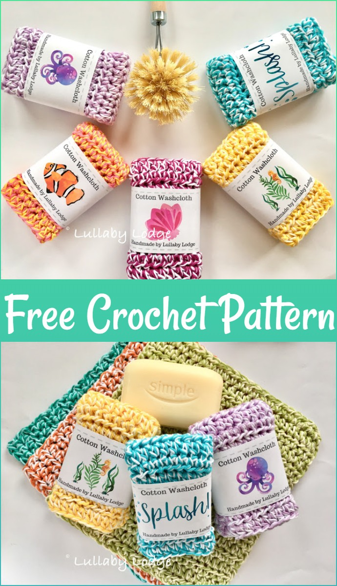 Free Pattern Crochet Washcloths
