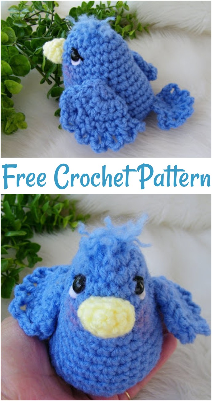 Free Simply Cute Blue Bird Crochet Pattern