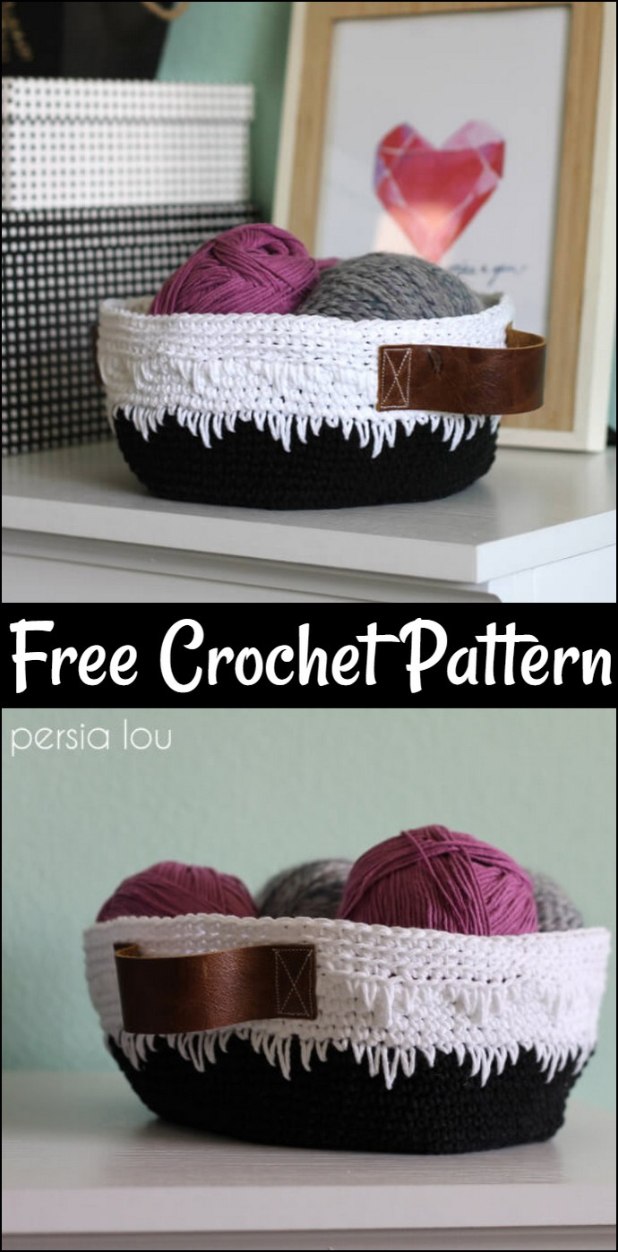 Geometric Crochet Basket Pattern