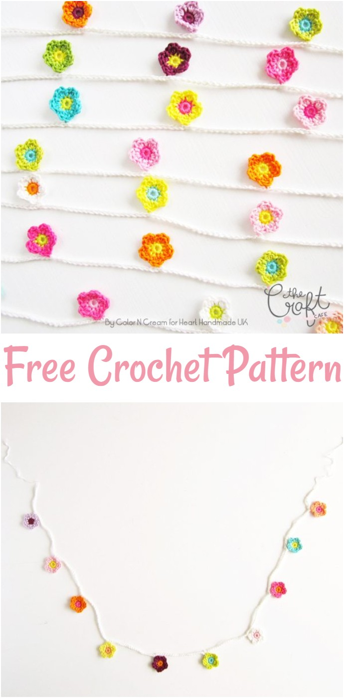 How To Crochet A Flower For A Gorgeous Garland