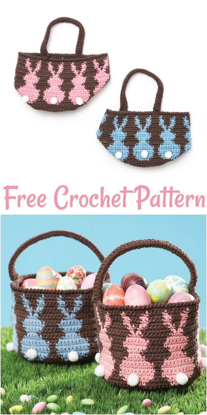 Lily Sugar N Cream Bunny Egg Basket Blue