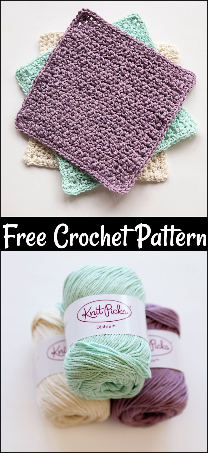 My Favourite Free Crochet Washcloth