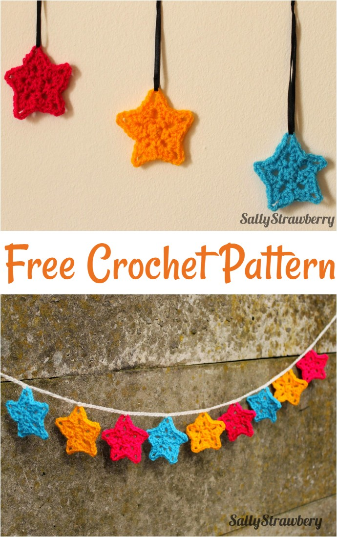 New Free Pattern Cute Crochet Stars