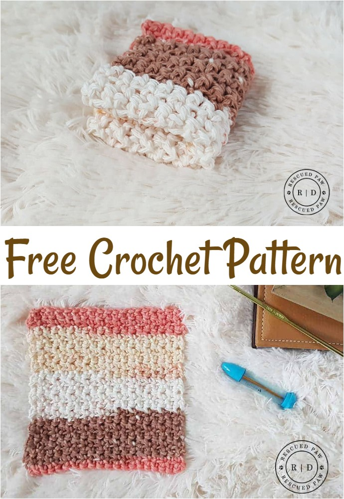 Simple Crochet Washcloth Pattern