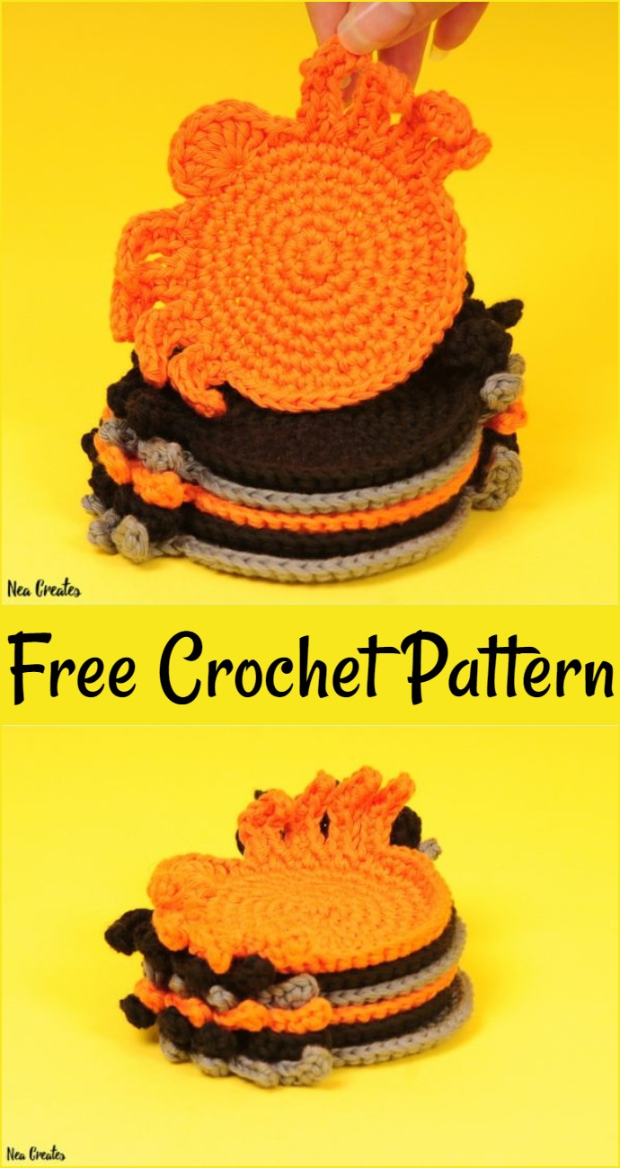 Spider Coasters Free Crochet Pattern