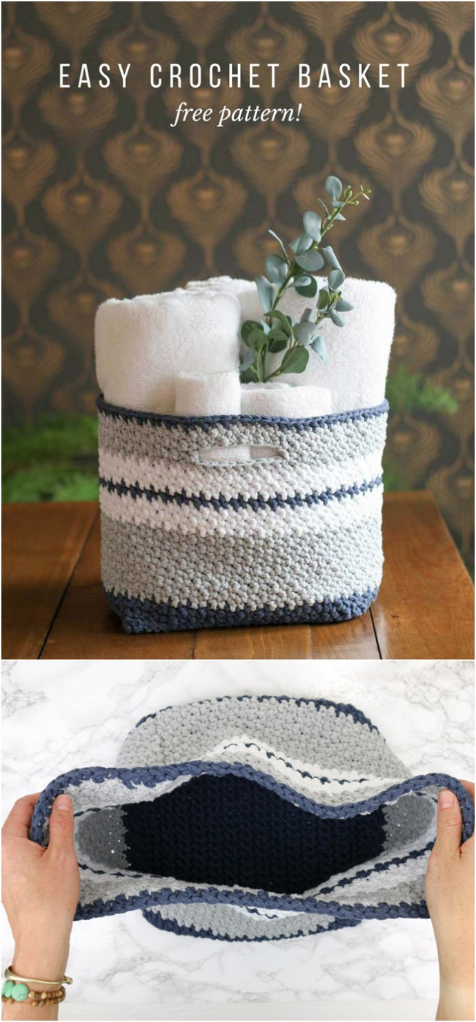 The Jacqueline Easy Crochet Basket Pattern